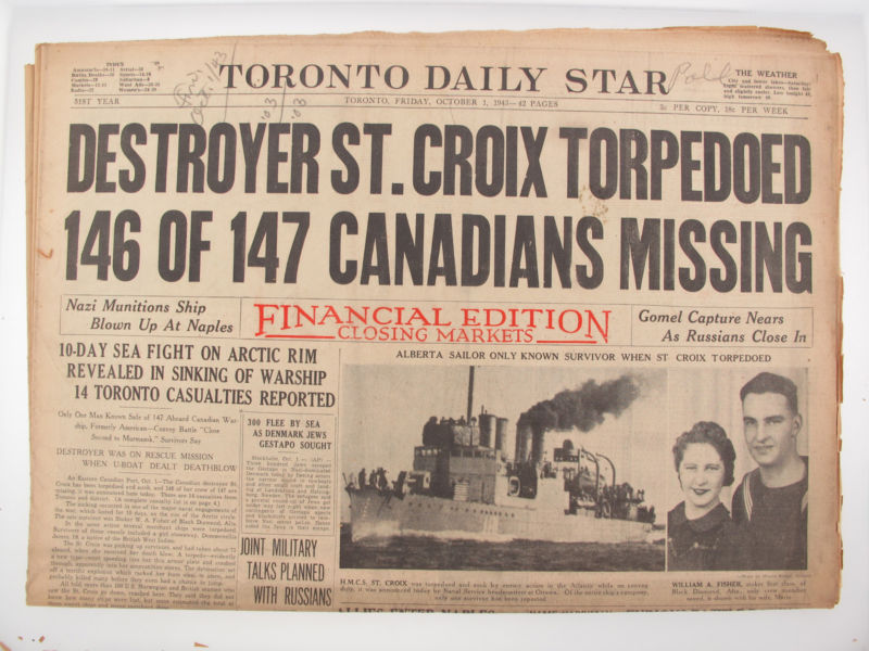 Toronto Star, Sept. 1943